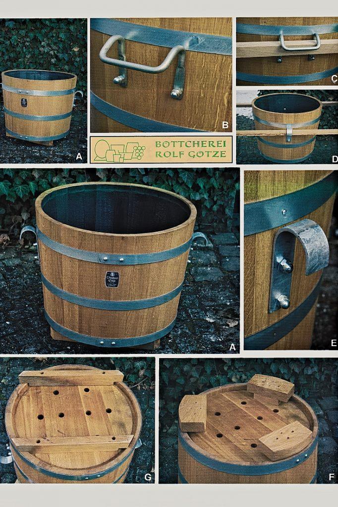 Holzpflanzkübel - Pflanzkübel Holz - Transport- Tragemöglichkeiten Pflanzkübel