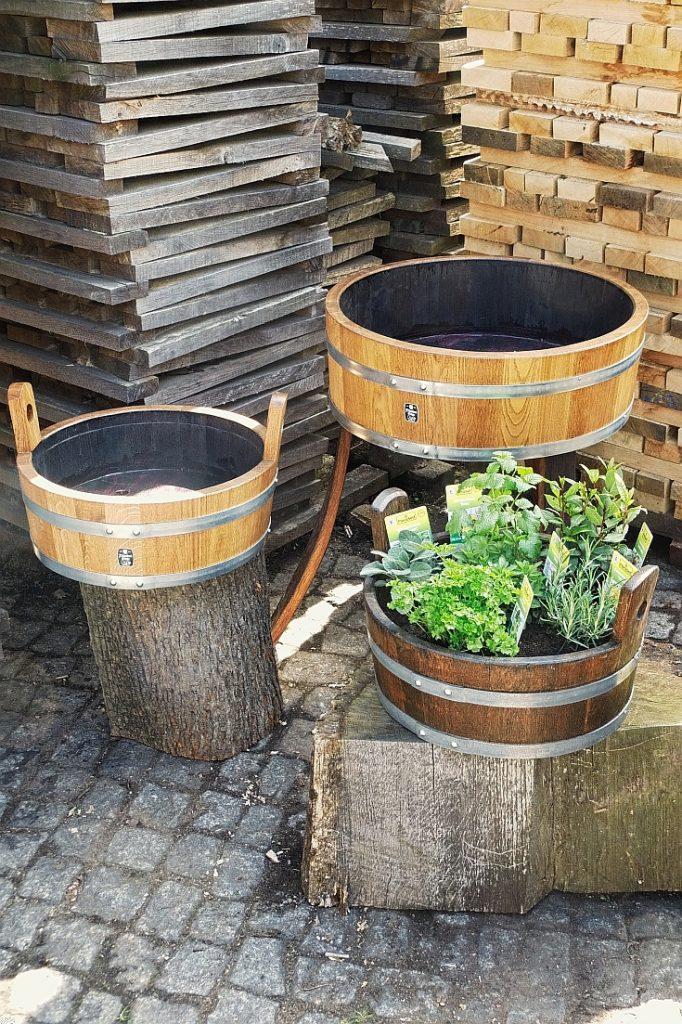 Holzpflanzkübel - Pflanzkübel Holz - Pflanzschale aus Holz