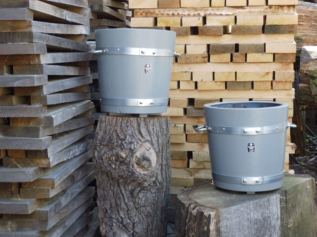 Holzpflanzkübel - Pflanzkübel Holz - Mausgrau