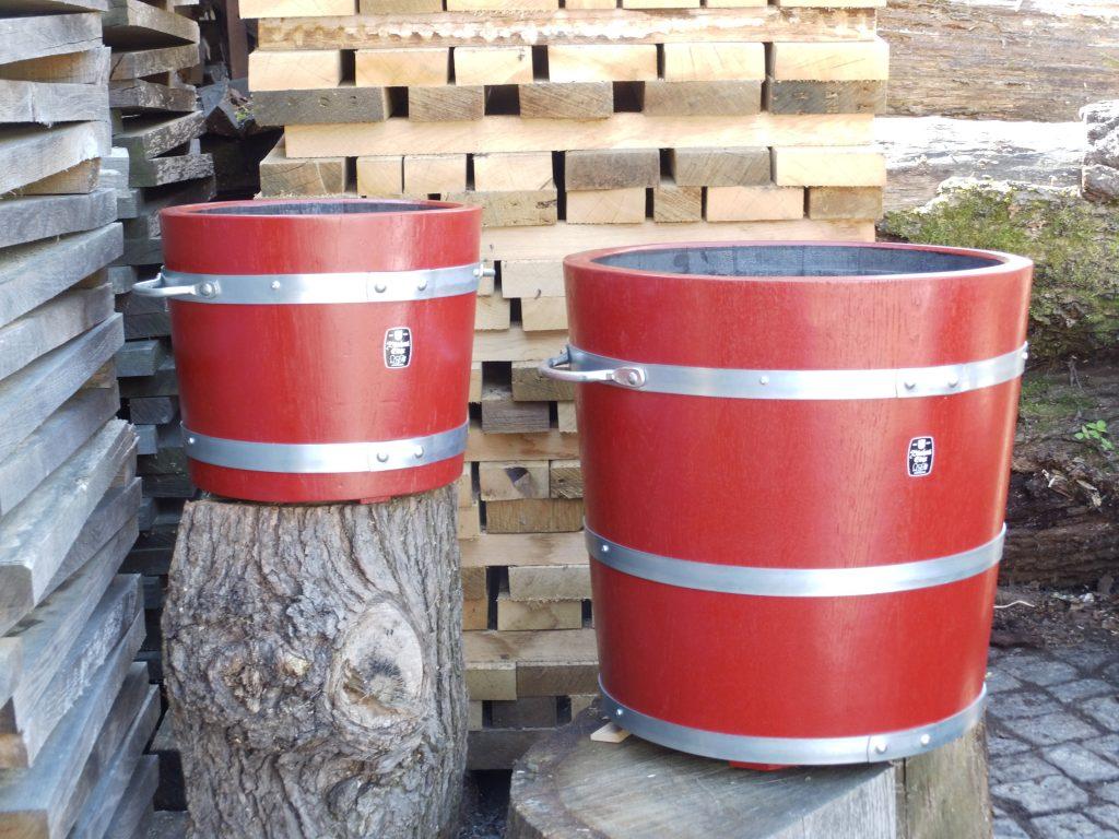 Holzpflanzkübel - Pflanzkübel Holz - Braunrot