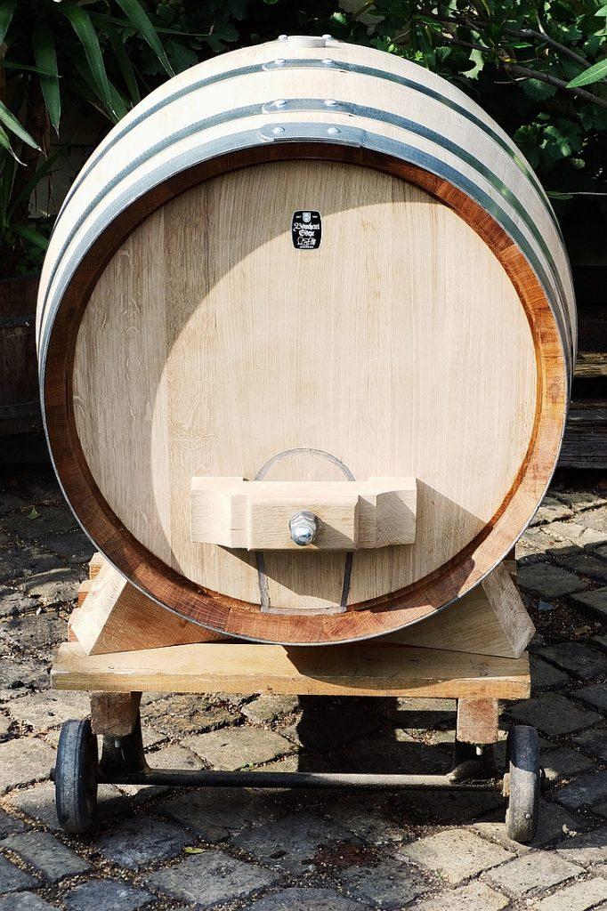 Holzfass 300 Liter - Vorderseite