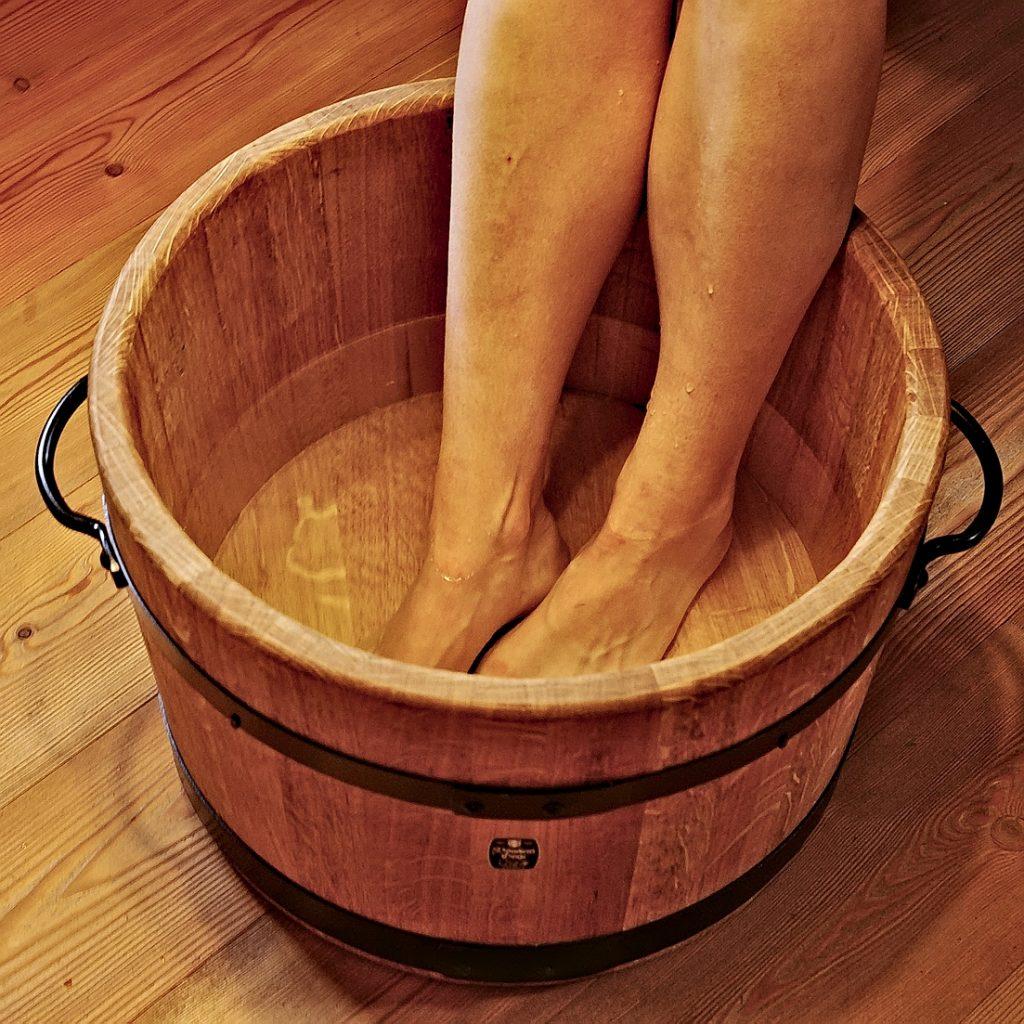 Holzbadewannen - Fußbadewanne 30 Liter