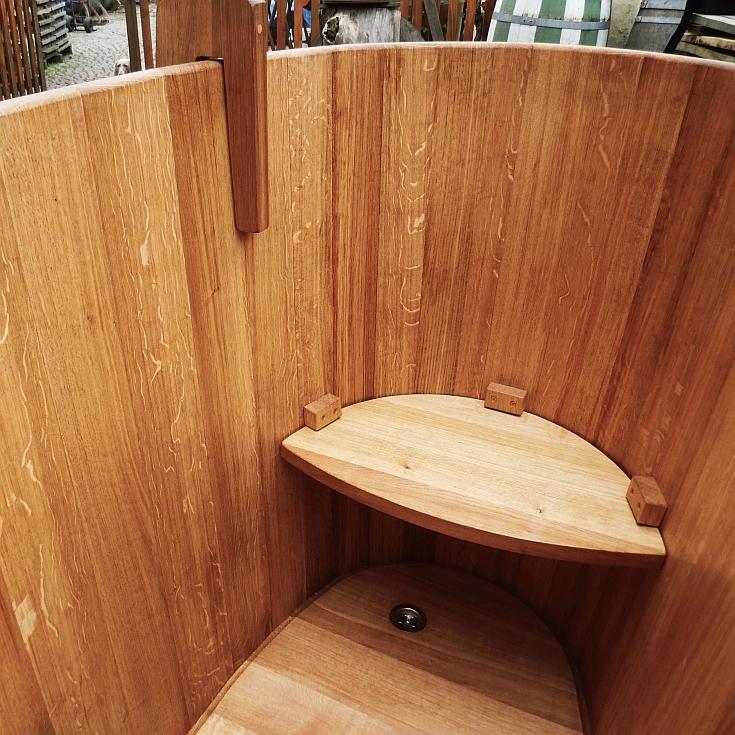 Holzbadewannen - Badebottich  - Sitzstufe