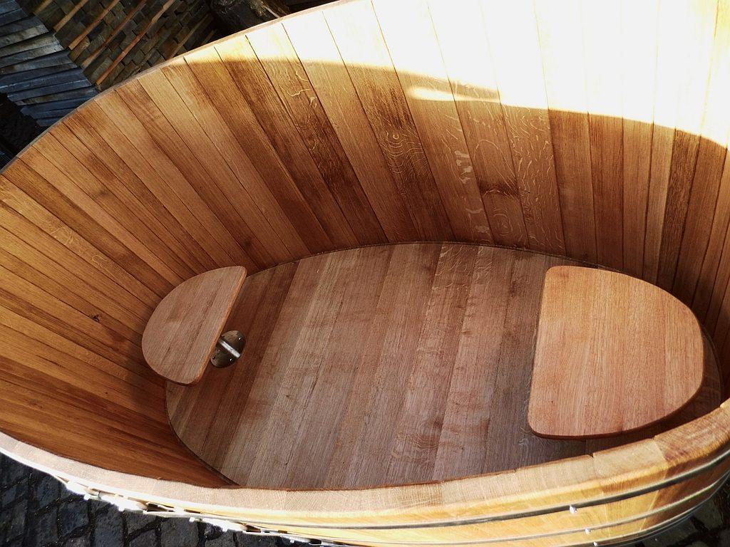 Holzbadewannen - Badebottich - Sitze - Edelstahlfuß